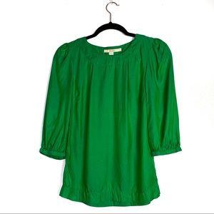 Boden Green Silk Blend 3/4 Sleeve Blouse Size 2